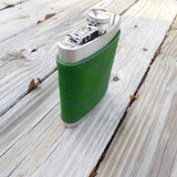 Green w/ Purple Thread, 8oz Flask