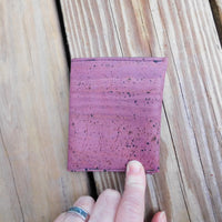 Plum Slim Cork Wallet