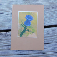 Scottish Thistle Block Print