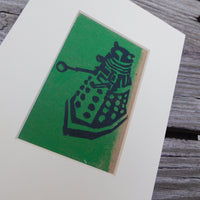 Dalek Green Block Print