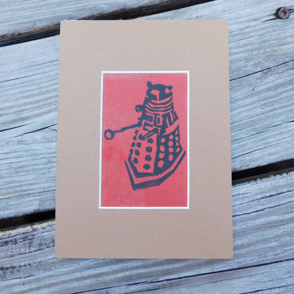 Dalek Red Block Print