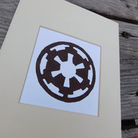 Galactic Empire Block Print