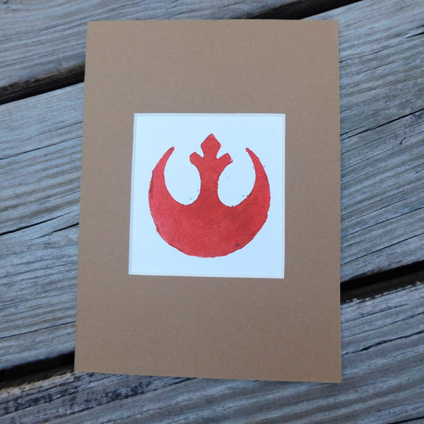 Rebel Alliance Block Print