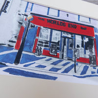 The World's End Bar Block Print