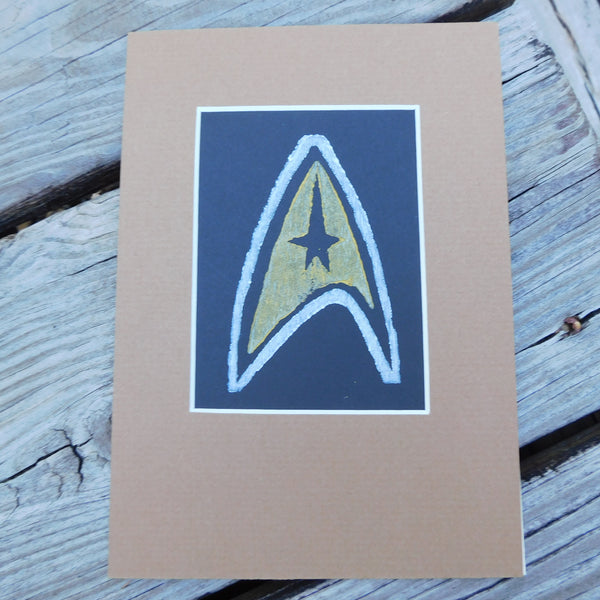 Star Trek Block Print