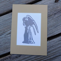 Weeping Angel Block Print