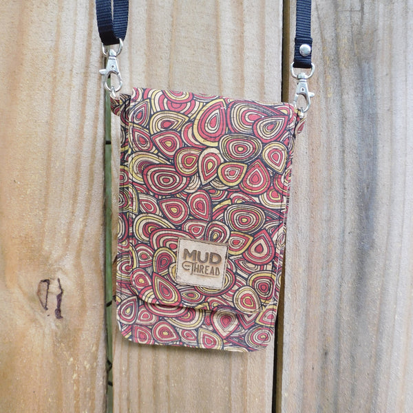 Doodles, Red Slim Sling Crossbody