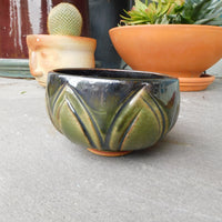Green Flower/Leaf Small Bowl