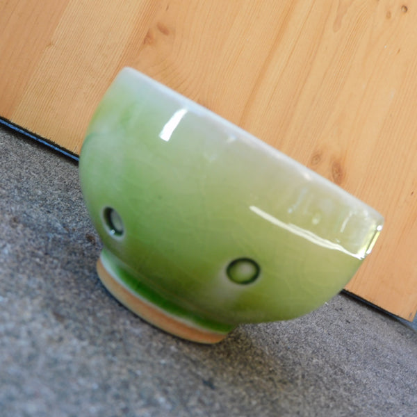Green Dimple Bowl