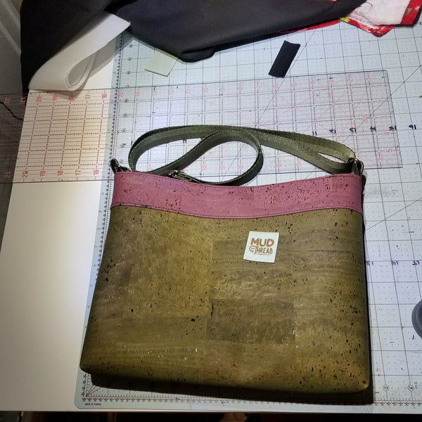 Cork & Feathers Open Top Crossbody
