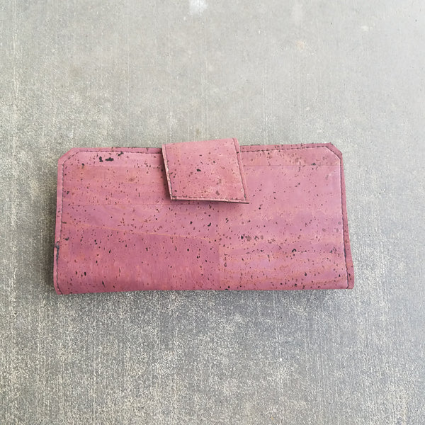 Plum Tall Wallet