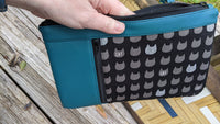 Cat & Lagoon Sileather Zippy Clutch