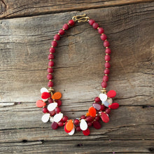 Load image into Gallery viewer, Red Combo Glass Necklace