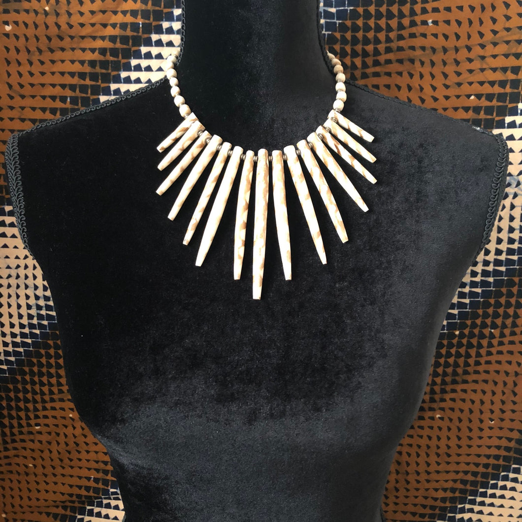 Sassy Spike Striped Choker