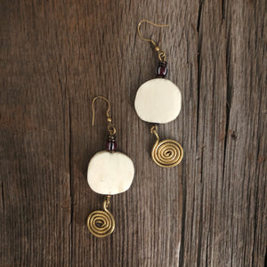 Disc Squiggle Earrings