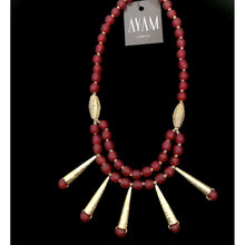 Load image into Gallery viewer, African Queen Glass Bead Necklace