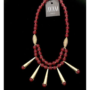 African Queen Glass Bead Necklace