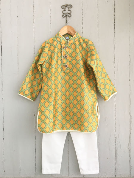 Royal Damask Boys Kurta