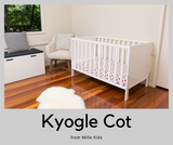 The Kyogle Cot in white