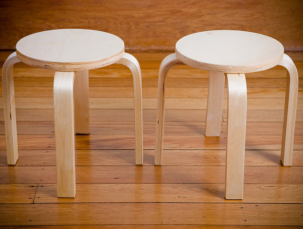 Mocka Kids Wooden Stools - 2 pack