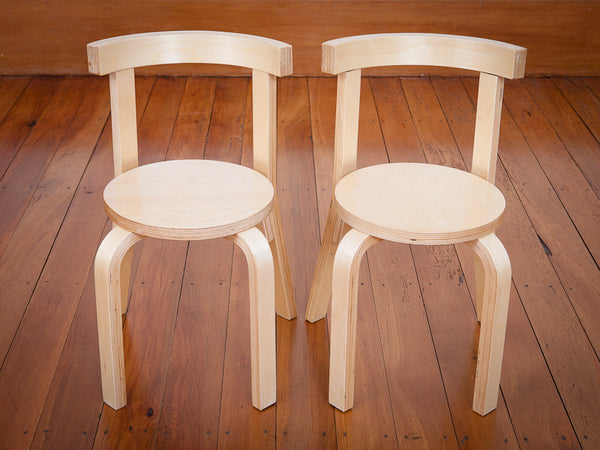 Mocka Kids Wooden Chairs - 2 pack