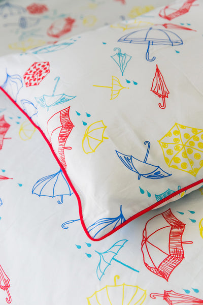 Umbrellas Rectangle Throw Cushion