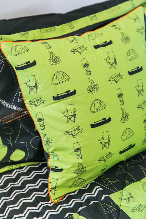 Camping Large Throw Cushion