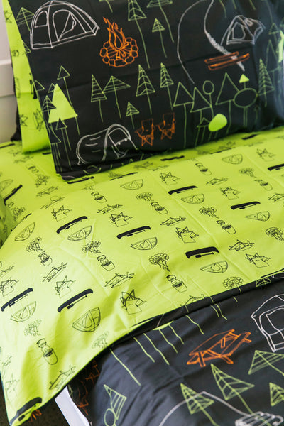 Camping Kids Quilt Cover - Kids Bedding