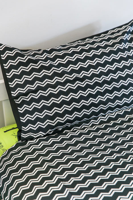 Camping Quilt Cover - Shadow/ZigZag