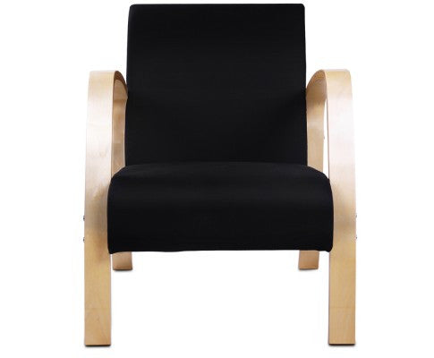 Birch Plywood Fabric Sofa Arm Chair - Black