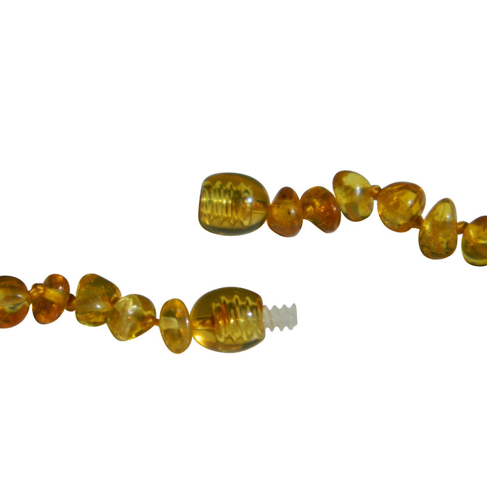 Baltic Amber Necklace - Safety screw clasp - Designed to break apart with pressure