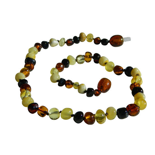 Baltic Amber Necklace Mixed With Milk
