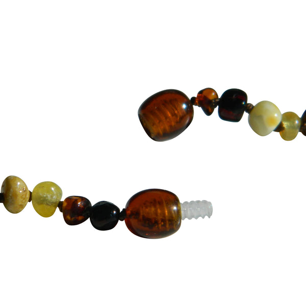 Amber Necklace - Safety screw clasp
