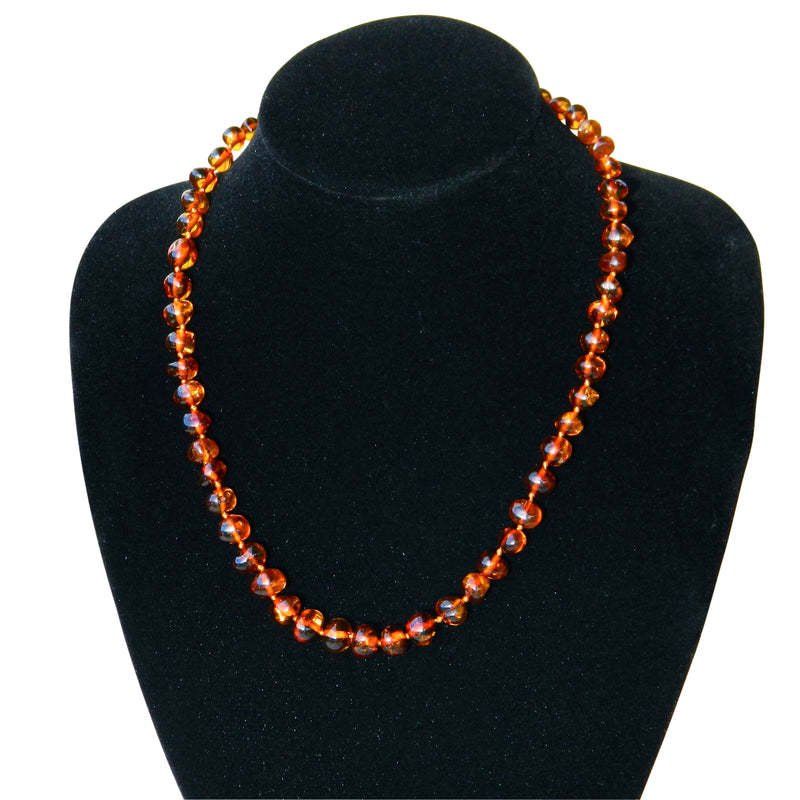 Baltic Amber Adult Necklace - Cognac