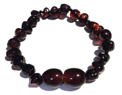 Baltic Amber Bracelet - Dark Cherry