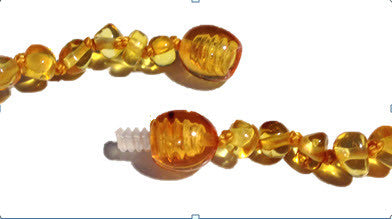 Baltic Amber Adult Necklace - Screw Clasp