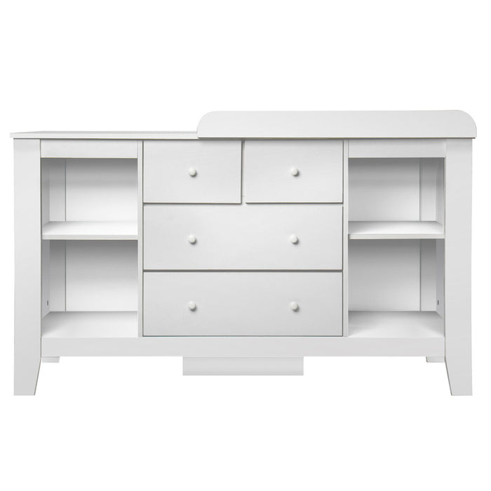 Baby Change Table & Dresser Cabinet - White