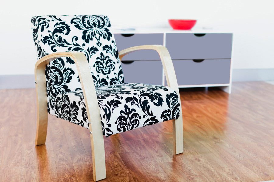 Mocka Britta Chair - Black Paisley