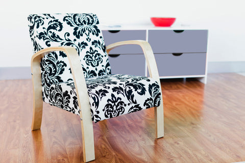 Mocka Britta Chair - Black Paisley - Pre Order Now For Mid Jun Delivery