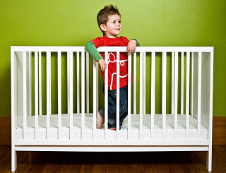 Mocka Aspiring Cot - White cot level
