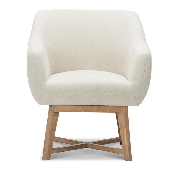 Fabric Tub Lounge Armchair - Beige