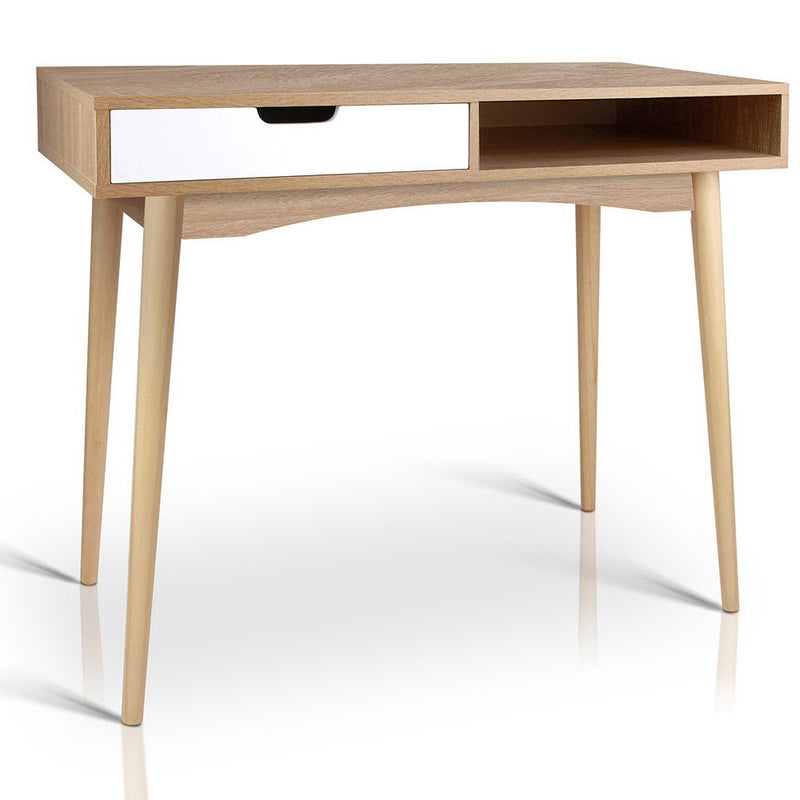 Home Wooden Study Desk - Natural/White