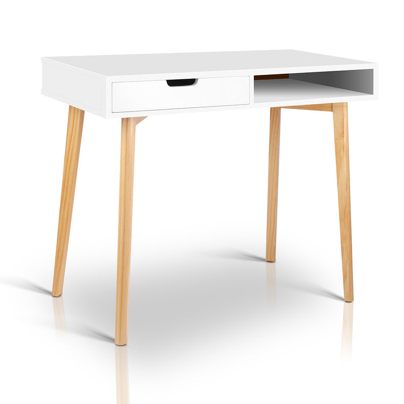 Wooden Home Study Desk - White
