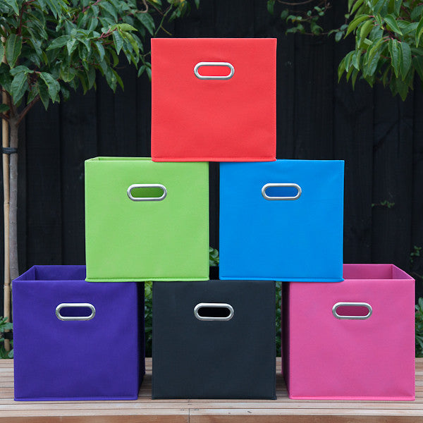Mocka Fabric Boxes - Choose From 6 Colours