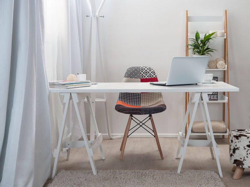 Trestle Desk - White legs / White Top