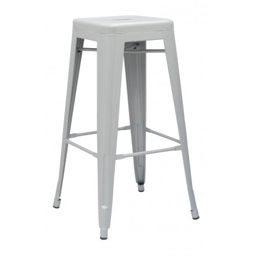 Industrial Stool - Silver
