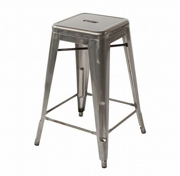 Industrial Stool - Galvanised