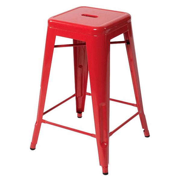 Industrial Stool - Red