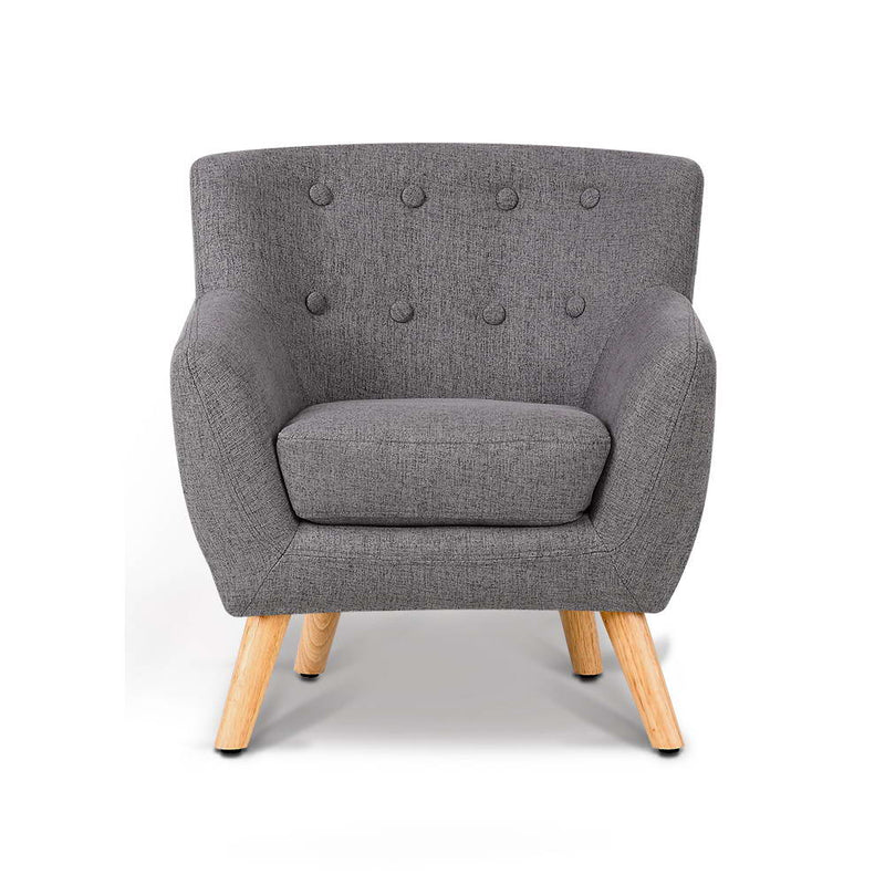Kids Fabric Armchair Grey