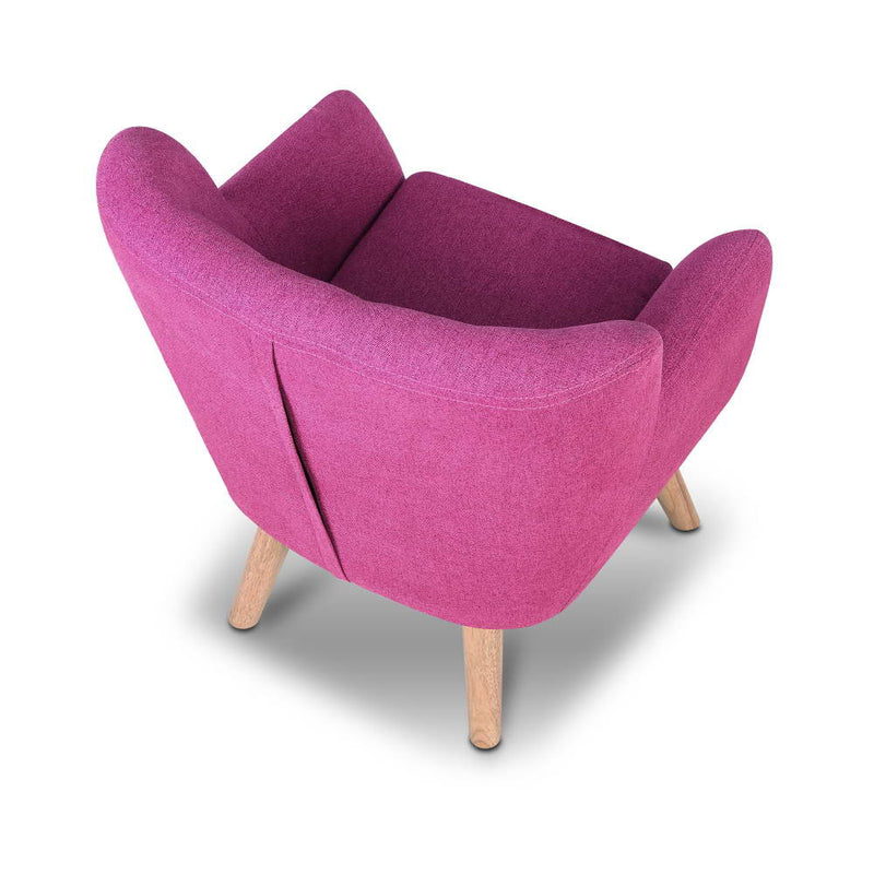 Kids Fabric Armchair Pink
